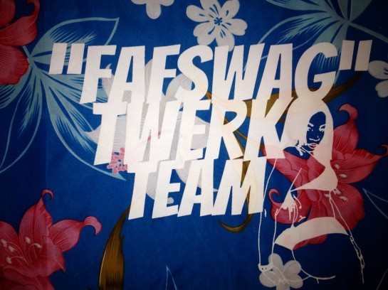 FAF SWAG lavalava designed by Tanu Gago