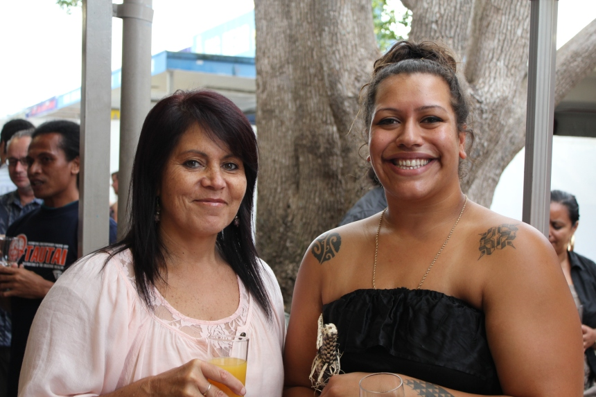"Leisa Siteine and Ema Tavola, opening of ""Nga Hau E Wha - The Four Winds"" at Fresh Gallery Otara (March 2011)"