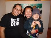 Ema, Leilani and Andre at Fresh Gallery Otara (2007)