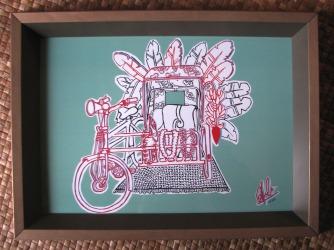 "Pimp My Trishaw Series #1 – Homage to My Homegirls"" (2013) by Nicole Lim"