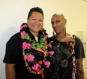 Margaret with MFA Studio Supervisor, Richard Kereopa
