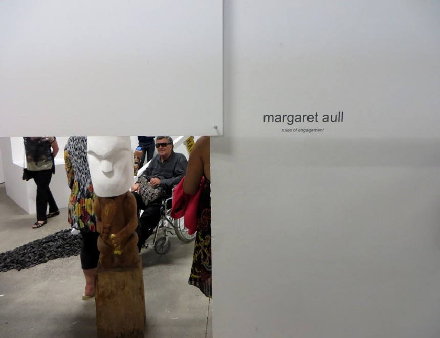 "Install detail, ""Rules of Engagement"" (2014) by Margaret Aull"