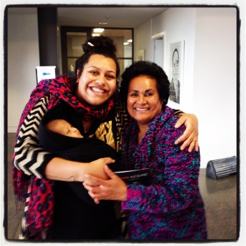 Introducing Lanuola to Siapo at Mangere Arts Centre ♥