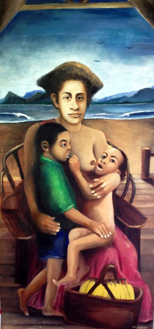 """Motherly Love"" by Epeli Labalaba, Tagimoucia Gallery (Fiji)"