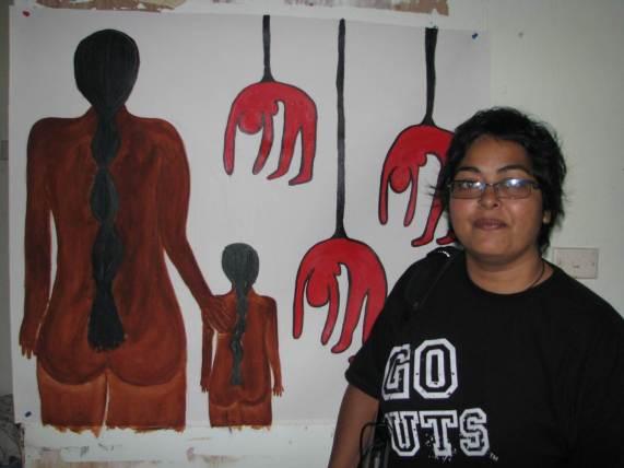 Studio visit (2008), photo by Ema Tavola
