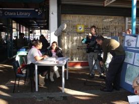TP filming Ema Tavola in Otara
