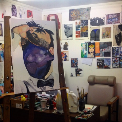 Niutuiatua Lemalu's studio, August 2015