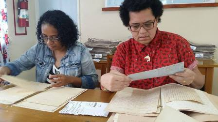 National Archives of Fiji visit, photo by Molly Rangiwai McHale
